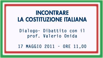 17 maggio ore 11,00 Valerio Onida incontra gli studenti