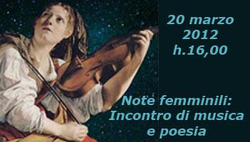 20 marzo h.16,00 - Note femminili