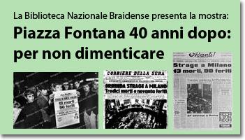Piazza Fontana 40 anni dopo